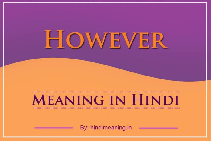 However Meaning in Hindi