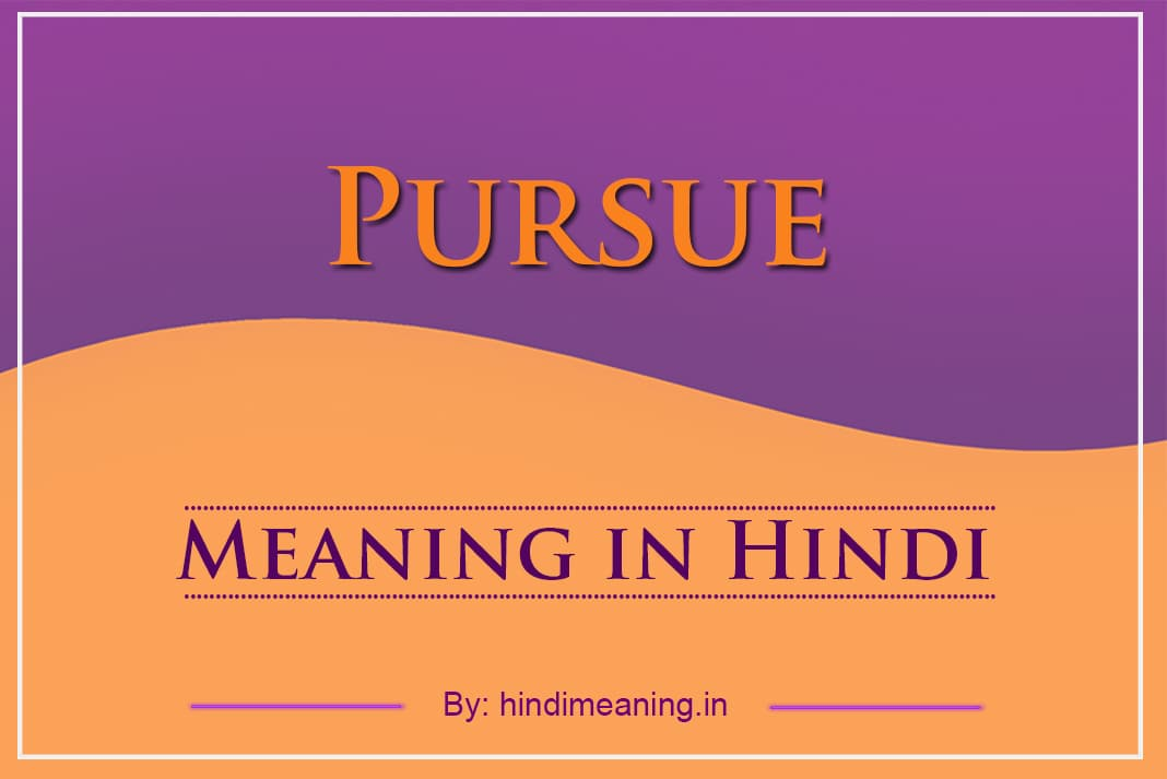 Pursue Meaning in Hindi