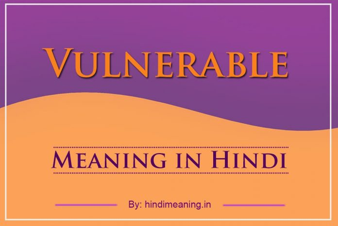 Vulnerable Meaning in Hindi