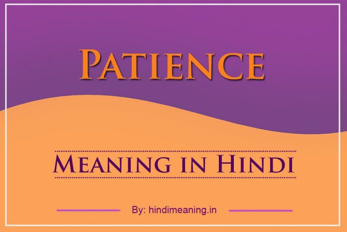 Patience Meaning in Hindi