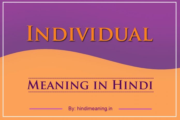 Individual Meaning in Hindi
