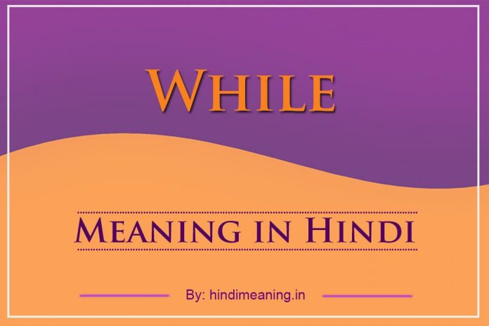 While Meaning in Hindi